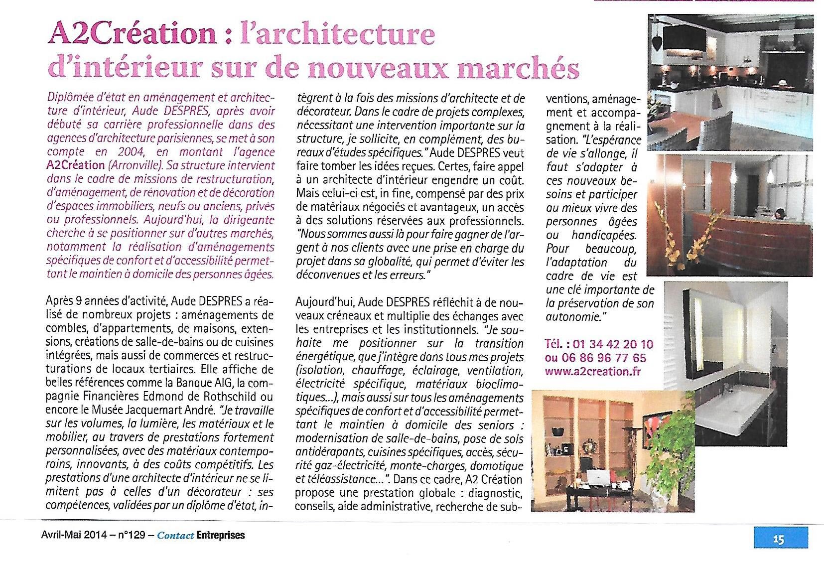 L 39 architecture d 39 int rieur sur de nouveaux march s a2c for L architecture d interieur